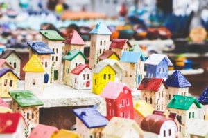 Roofs, representedby this miniature model of a neighbourhood, are at greater risk of damage in subtropical areas.
