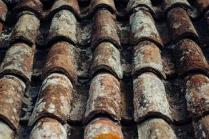 The damage should be kept intact as long as possible, as is the case with this rusted and damaged roof.