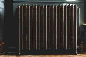 Gray oil heater you should prepare for the winter. It is important part of your annual household maintenance checklist.