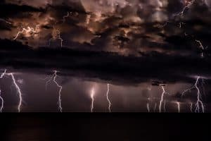 Clouds and lightning