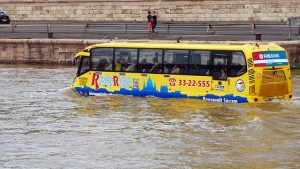 bus in flood