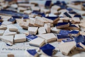 broken tiles go hand in hand with bathroom renovation ideas