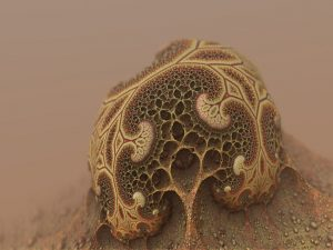 A microscopic image of a mold spore.