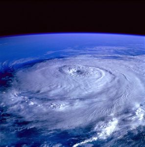 hurricane from the space